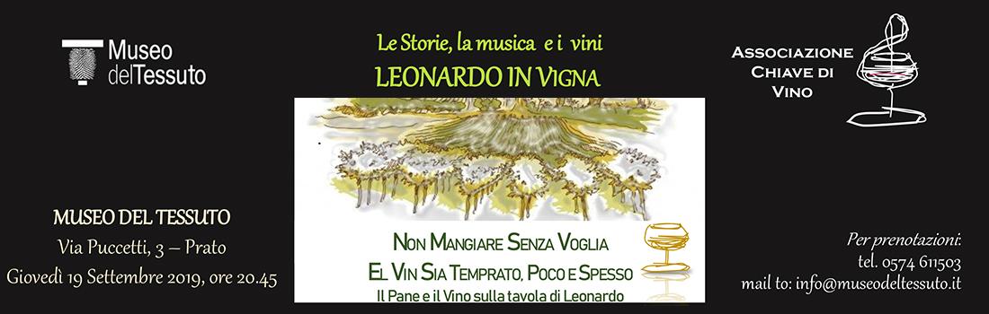 LEONARDO IN VIGNA – Concerto del 19/09/19 al Museo del Tessuto a Prato.